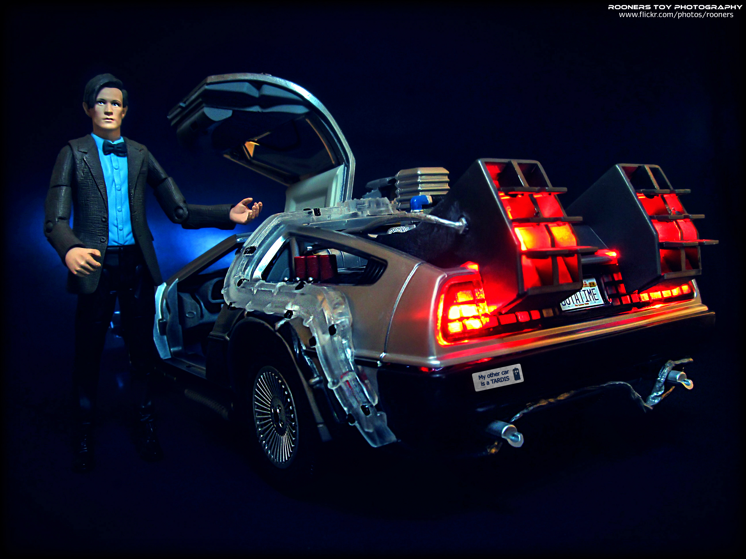 The Doctor has a New Ride by Rooners Toy Photography (CC BY-SA 2.0) at Flickr.
