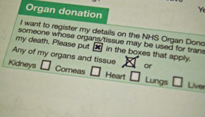 NHS organ donation form