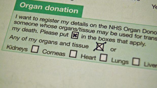 NHS organ donation form